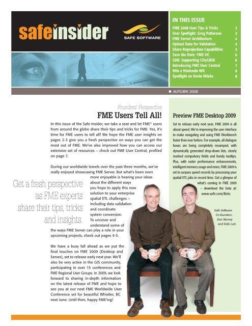 Fme User Tip Safe Software Inc
