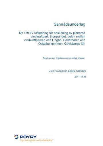 Samrådsunderlag - wpd Scandinavia AB