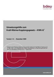 Umsetzungshilfe zum Kraft-Wärme-Kopplungsgesetz – KWK-G