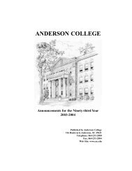 2003/2004 Catalog - Anderson University