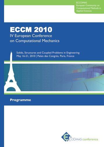 Programme (PDF) - ECCM 2010