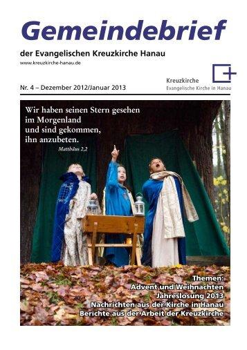 Gemeindebrief - Evangelische Kreuzkirche Hanau