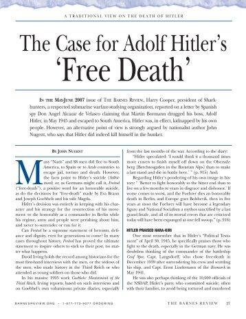 No Way Hitler Escaped the Bunker (.pdf file - John de Nugent