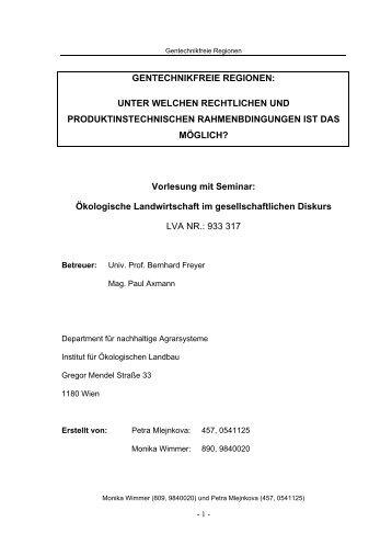 7.3. Österreich - Institut für ökologischen Landbau