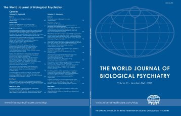 THE WORLD JOURNAL OF BIOLOGICAL PSYCHIATRY - WFSBP