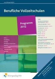 Berufliche Vollzeitschulen - Bildungsverlag EINS