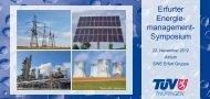 Erfurter Energie- management- Symposium - TÜV Thüringen