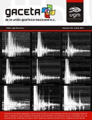 Licenciatura en Geociencias - Unión Geofísica Mexicana, UGM