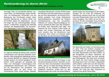 Durch das Dreisbachtal zum Aremberg - Die Watzmänner aus Wehr