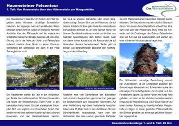 Hauensteiner Felsentour - Die Watzmänner aus Wehr