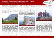Dolomiten-Klettersteigdurchquerung Fanes-Tofana - Die ...