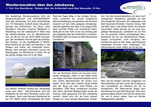 Jakobsweg - Die Watzmänner aus Wehr