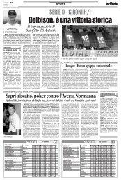 10/09/2007 Campiobnato 2a Giornata: Girone H - serie d news