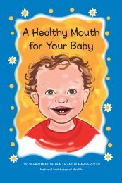 A Healthy Mouth for Your Baby - National Institute of Dental and ...