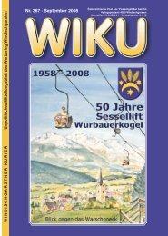 Unpolitisches Mitteilungsblatt des W erbering W ... - wiku-online.at
