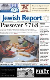 SAVE THE DATE! SAVE THE DATE! - South African Jewish Report