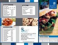 NSU Catering - Student Catering Menu