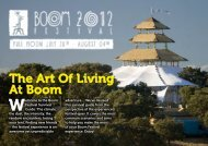 The Art Of Living At Boom - Boom Festival
