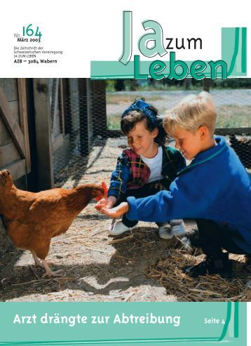 63100 JzL Bulletin 164 - JA ZUM LEBEN Schweiz