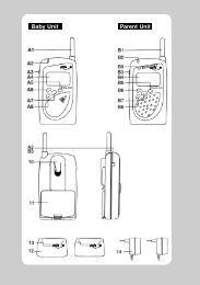 SuperNOVA Digital Babyalarm tidligare modell (PDF)