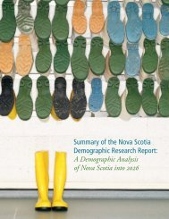 Summary of the Nova Scotia Demographic Research Report: A ...