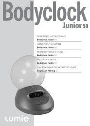 OPERATING INSTRUCTIONS Bodyclock Junior 50 NOTICE D ...
