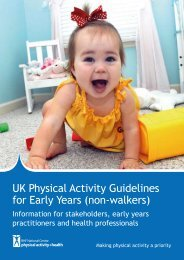 UK Physical Activity Guidelines for Early Years - BHF National ...