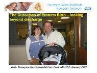 Developmental Outcomes of Preterm Birth by Katie ... - NHS Networks