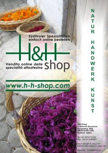Katalog Natur, Handwerk, Kunst - HH-Shop.com