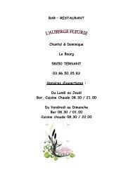 restaurant l'auberge fleurie - Ternant