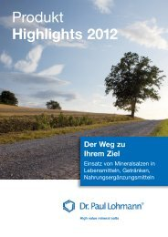 Produkt Highlights 2012 - Dr. Paul Lohmann GmbH KG