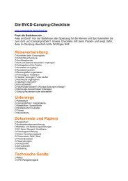 Die BVCD-Camping-Checkliste Reisevorbereitung Unterwegs ...