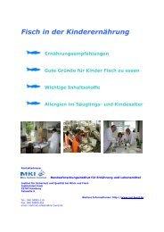 Fisch in der Kinderernährung - Max Rubner-Institut - Bund.de