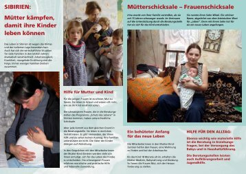 SIBIRIEN: Mütter kämpfen, damit ihre Kinder leben ... - Renovabis