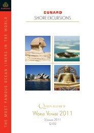 WORLD VOYAGE 2011 - Cunard