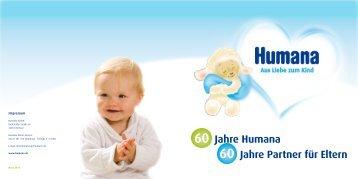 60 Jahre Humana 60 Jahre Partner für Eltern
