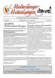 Mitteilungsblatt Nr. 41 vom 13. Oktober 2011 (PDF - Gemeinde ...