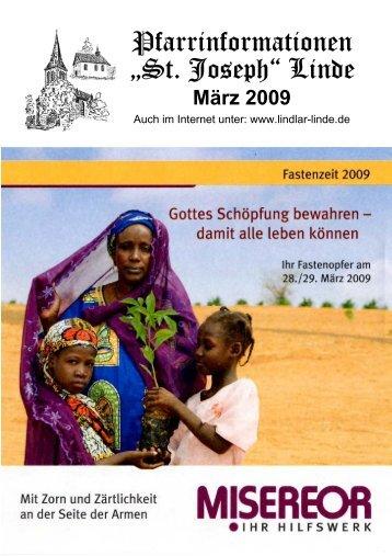 "Pfarrinformationen ""St. Joseph"" Linde - Bürgerverein Linde eV"
