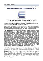 Competence Center E-Commerce CCEC Report 2011/II - L3T