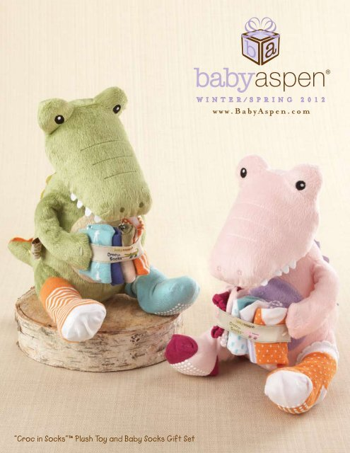 "98db39d5c5b89 ""Croc in Socks""™ Plush Toy and Baby Socks Gift Set"