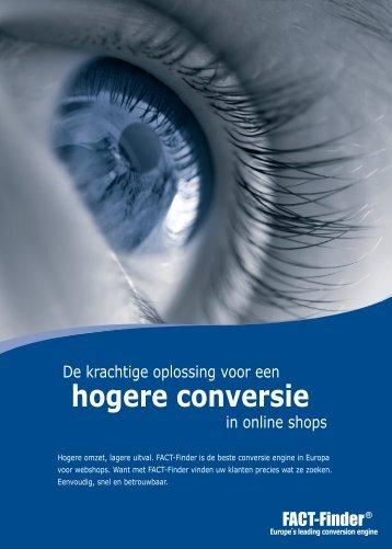 hogere conversie - FACT-Finder