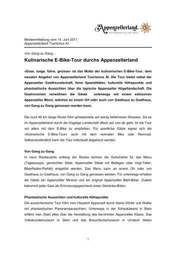 Kulinarische E-Bike-Tour durchs Appenzellerland