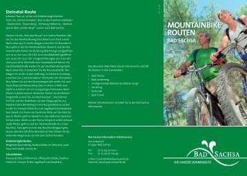 MOUNTAINBIKE ROUTEN MOUNTAINBIKE ROUTEN - Bad Sachsa