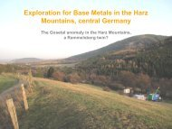 Exploration for Base Metals in the Harz Mountains, central Germany