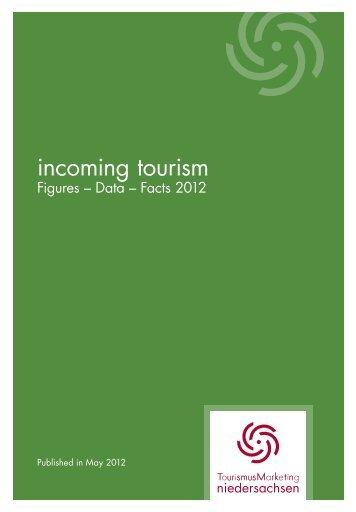 """brochure """"incoming tourism"""" - Tourismuspartner Niedersachsen"""