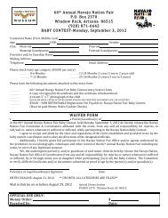 NNF12.Baby Contest-Entry Forms-REV - Navajo Nation Fair