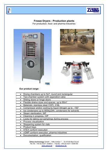 Freeze Dryers - Production plants