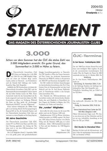 Oktober 2004 - Österreichischer Journalisten Club