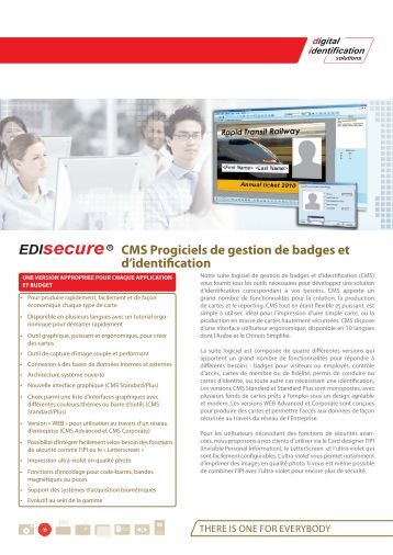 CMS Progiciels de  gestion de badges et d'identification - Digital ...