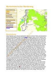 Montanhistorischer Wanderweg - Wandern in der Sächsische Schweiz